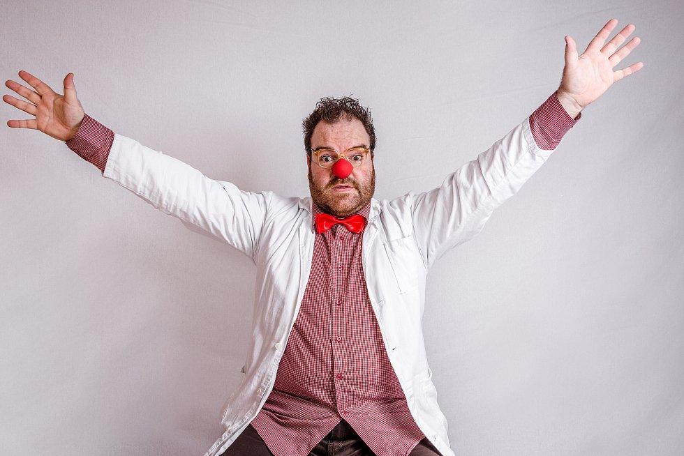 Zdravotní klaun Tomáš Jakoubek.