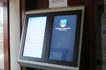 Nová elektronická deska města Ústí nad Orlicí.