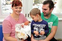 Tereza Vaňousová těší od 7. ledna od 11.08 hodin rodiče Barboru a Josefa z Říček, kde už mají syna Davida. Holčička vážila 2,79 kg.
