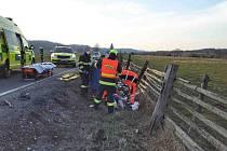 Nehoda cyklisty u Rudoltic na Orlickoústecku