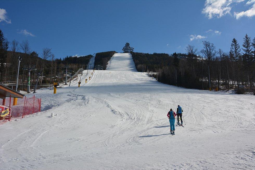 Skialpinistky na Dolní Moravě