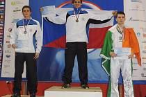 Martin Viktorin a jeho radost po titulu v disciplíně Lightkontakt.