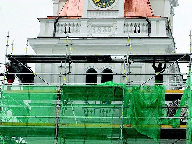 Opravy radnice v Chocni končí.