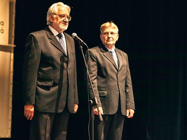 Bývalý a současný ředitel SŠUP - Ing. Zdeněk Rössler a Ing. Zdeněk Salinger.