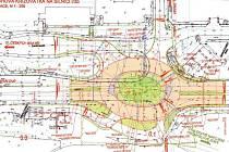 Projekt kruhového objezdu ve Vysokém Mýtě