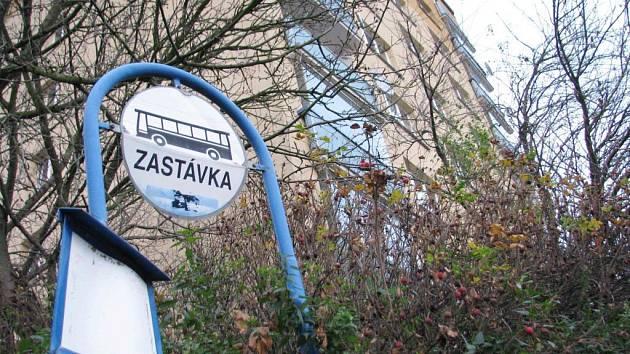 Zastávka u sídliště Křib v České Třebové.