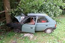 Dopravní nehoda u Lanškrouna.