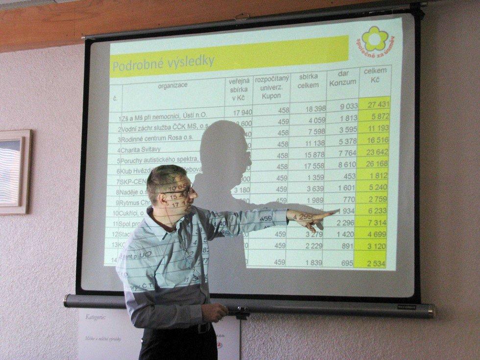 Ředitel Konzumu Miloslav Hlavsa při prezentaci výsledků Společně za úsměv.