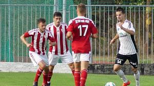 Jedno z posledních venkovních utkání, při kterém byly v akci červenobílé dresy jirenské Viktorie v rámci ČFL, bylo na podzim 2018 to v Ústí nad Orlicí.
