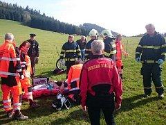V Šanově u Červené Vody se zřítil paraglidista.