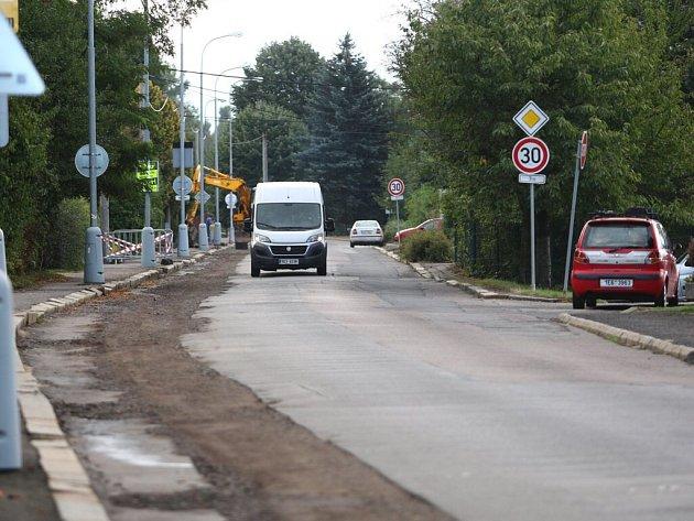 Ulice Čs. armády v Ústí nad Orlicí.