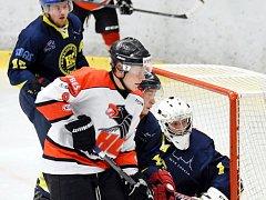 Krajská hokejová liga: HC Chrudim - HC Spartak Choceň.