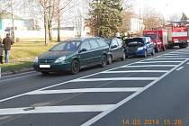 Dopravní nehoda ve Vysokém Mýtě.