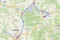 Ve dnech 20. až 22. srpna bude úplně uzavřená silnice I/43 mezi Lanškrounem a Horními Heřmanicemi.