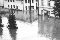 Povodně 1997 - Ústí nad Orlicí , tiskárna Oftis.