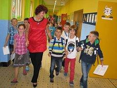 Školní chodby ožily. Fotografovali jsme v ZŠ Komenského Na Štěpnici v Ústí.