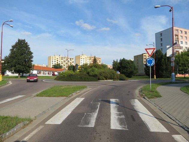 Zmísta střetu řidičky vozidla s cyklistou.