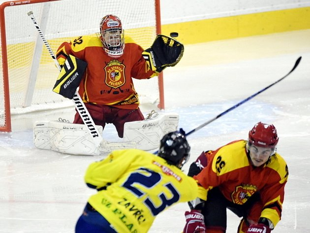 Krajská hokejová liga: HC Spartak Choceň - HC Spartak Polička.