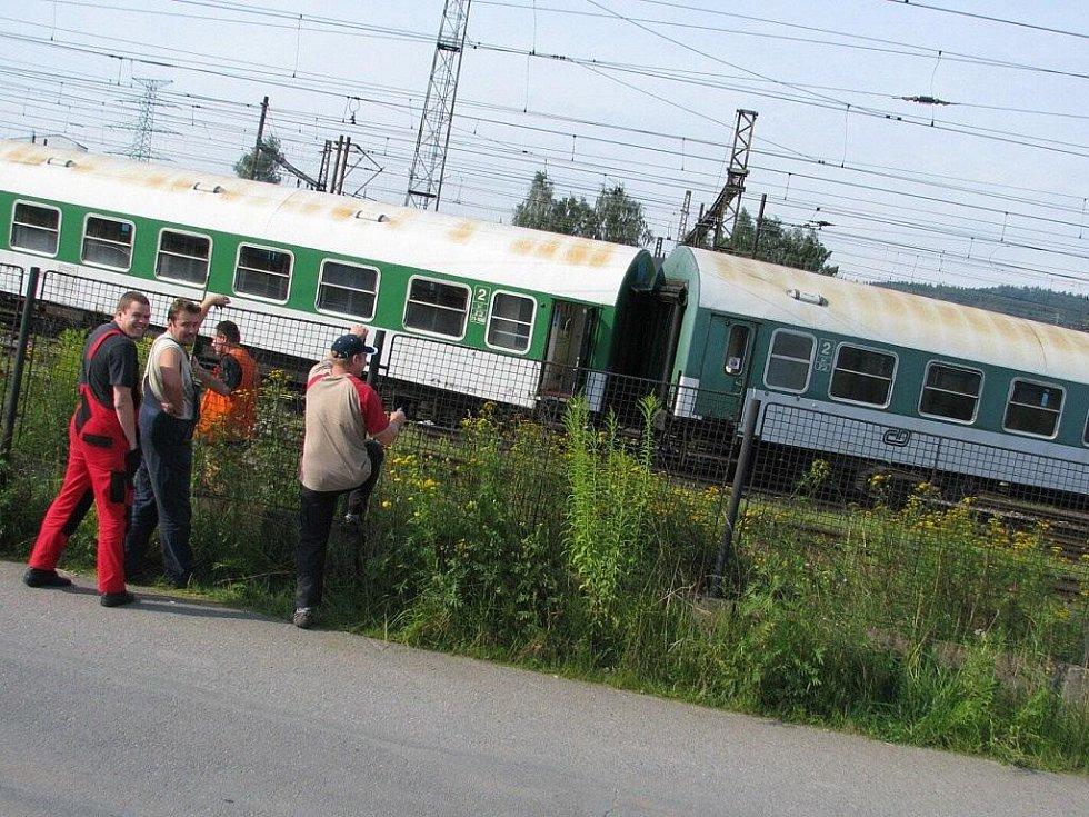 V České Třebové vykolejil vlak.