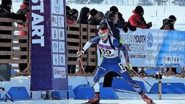 Mikuláš Karlík na startu závodu.