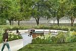 Vizualizace budoucí podoby parku