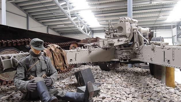 Přímo mezi vojáky vás dostane druhoválečná dioramatická expozice s názvem Jaro 1945 konec bojů. Zdroj: Vojenské muzeum Králíky