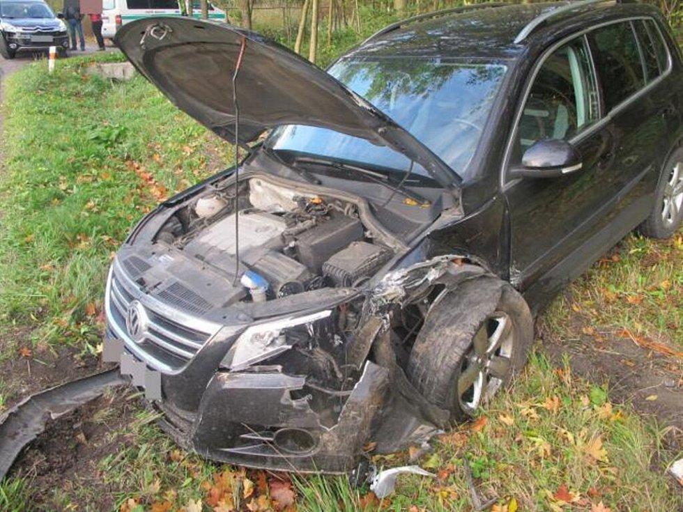 Dopravní nehoda na silnici mezi obcemi Nepomuky a Lanškroun.