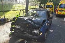 Ve středu ráno se na silnici I/35 při vjezdu do Vysokého Mýta střetla dvě osobní auta.
