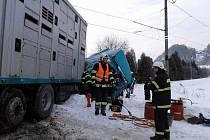 Nehoda na přejezdu v Letohradu.