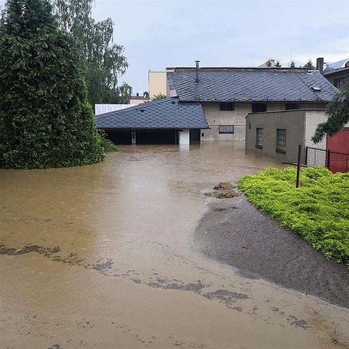 Blesková povodeň zasáhla Lanškroun