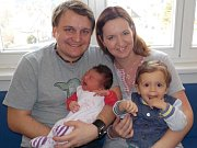 Veronika Stříteská bude těšit spolu s Pavlíkem rodiče Veroniku a Pavla z Cerekvice nad Loučnou. Narodila se 12. 3. v 5.17 hodin s váhou 3930 g.