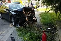 Čtyři jednotky hasičů zasahovaly v neděli u nehody v České Třebové.