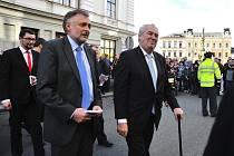 Prezident republiky Miloš Zeman při návštěvě Chocně.