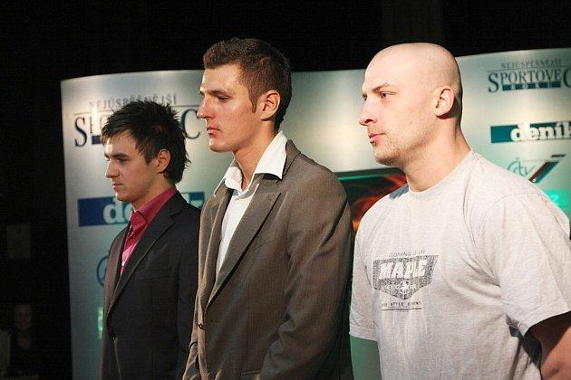 Zleva Denis Špička, Jaroslav Kulhavý a Jindřich Velecký.