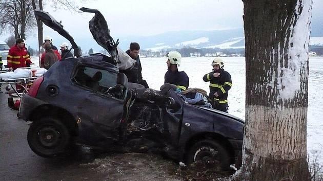 Na komunikaci vedoucí z Králík k Červené Vodě havaroval v neděli 28. listopadu osobní automobil Renault Clio s tříčlennou posádkou. Jeden ze spolujezdců nehodu nepřežil.