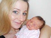 Kateřina Bednaříková těší rodiče Kristýnu a Milana z Pastvin jako prvorozená holčička. Na svět přišla s váhou 3230 g dne 10. 2. v 18.35 hodin.