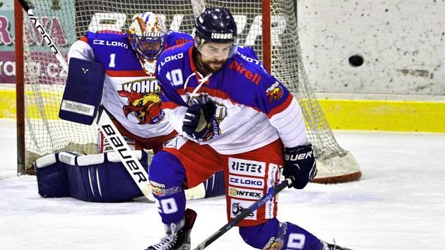 Krajská hokejová liga: HC Kohouti Česká Třebová - HC Chotěboř.