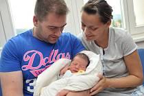 Mikuláš Morávek, tak se jmenuje první potomek Bohumily a Tomáše z Chocně. 17. září ve 3.47 vážil 3,62 kg.