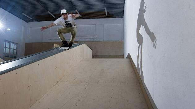 Z nového skateparku v Ústí nad Orlicí.