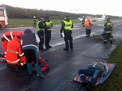Taktické cvičení jednotek Integrovaného záchranného systému pod názvem Letecká nehoda 2017 ve Vysokém Mýtě.