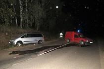 Dopravní nehoda na výjezdu z Dolní Dobrouče na Letohradu.
