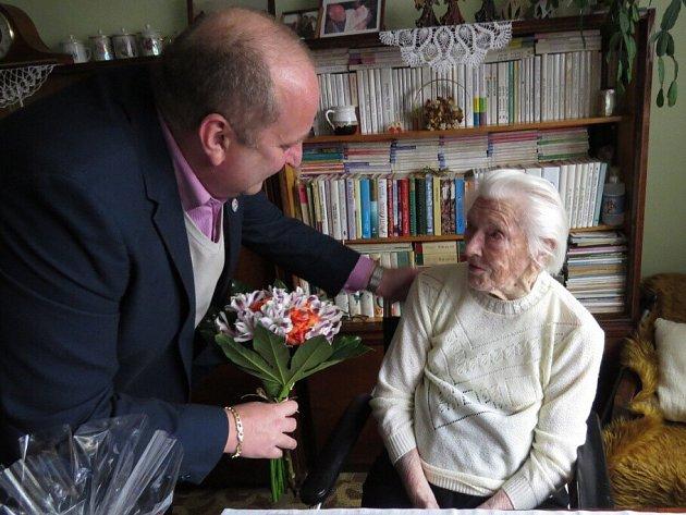 Nejstarší občanka Letohradu Lidmila Junková oslavila 103 let.