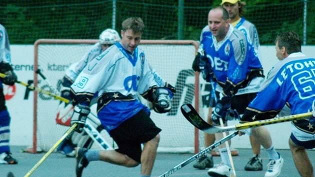 V týmu VIP nastoupil také letohradský starosta a bývalý předseda hokejbalového oddílu Petr Fiala.