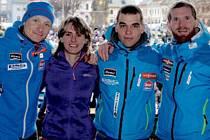 Přivítání biatlonistů v Letohradu.