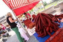 Farmářský trh v Ústí nad Orlicí.