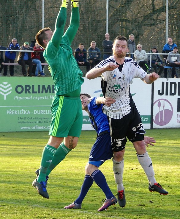 Česká fotbalová liga: TJ Jiskra Ústí nad Orlicí - SK Zápy.