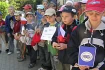 Děti putovaly česko-polským pohraničím.