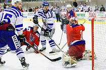 Kohouti v pátém čtvrtfinále porazili Havlíčkův Brod 4:3.