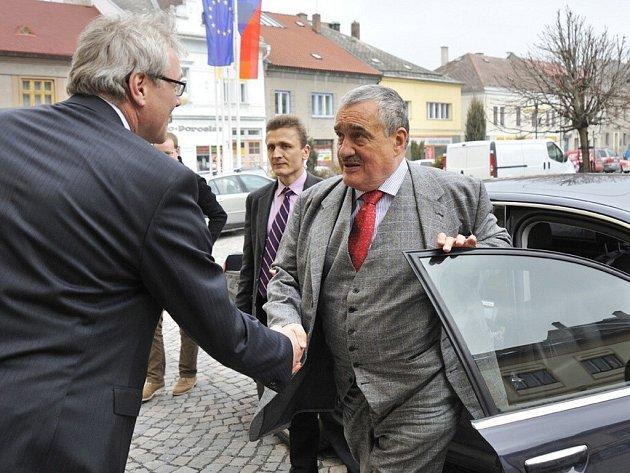 Karel Schwarzenberg v České Třebové.