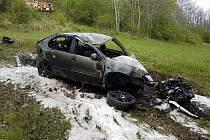 Dopravní nehoda u Albrechtic
